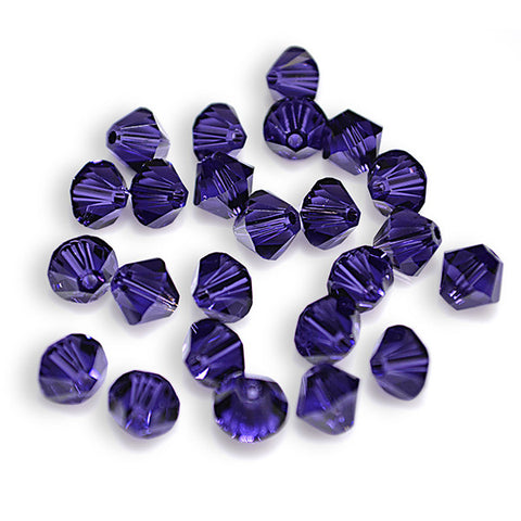 5301 / 5328-6-pv Swarovski Crystal 6mm Bicone Purple Velvet Beads (Package of 24 Beads)