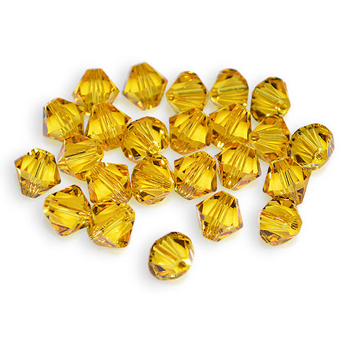 5301 / 5328-4-sf Swarovski Crystal 4mm Bicone Sunflower Beads (Package of 48 Beads)