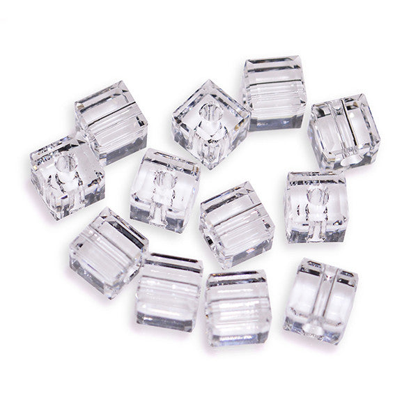 abe0e3e15a0558 5601-4-cr Swarovski Crystal 4mm Crystal Cube Beads (Package of 12 Beads