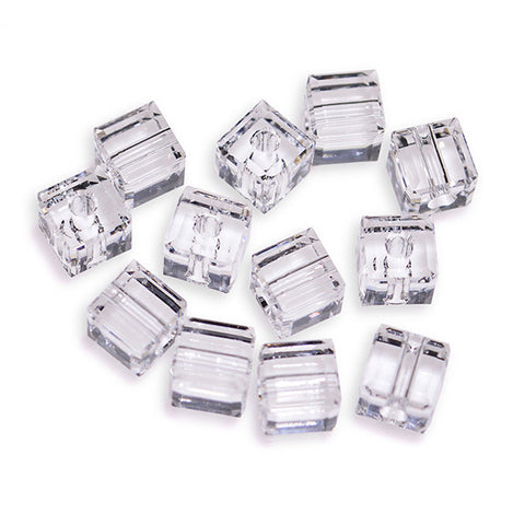 5601-4-cr Swarovski Crystal 4mm Crystal Cube Beads (Package of 12 Beads)
