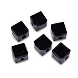 5601-4-je Swarovski Crystal 4mm Jet Cube Beads (Package of 12 Beads)