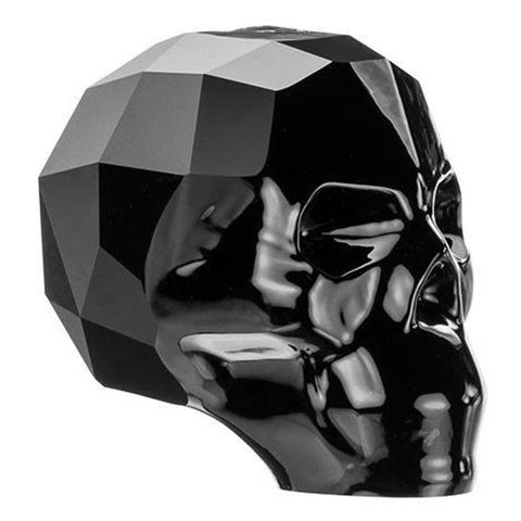 5750-13-je Swarovski Crystal 13mm Jet Skull Bead (Package of 1 bead)