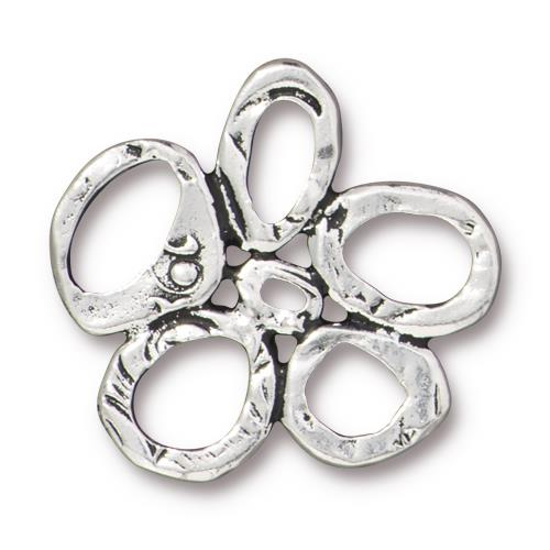 0803-link5ring-sp Silver Plated Intermix 5 Ring Link (Package of 1 link)