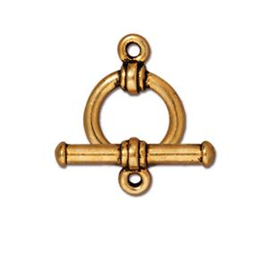 0553-13 round-gp Gold Plated Round Toggle Clasp (Package of 1 clasp)