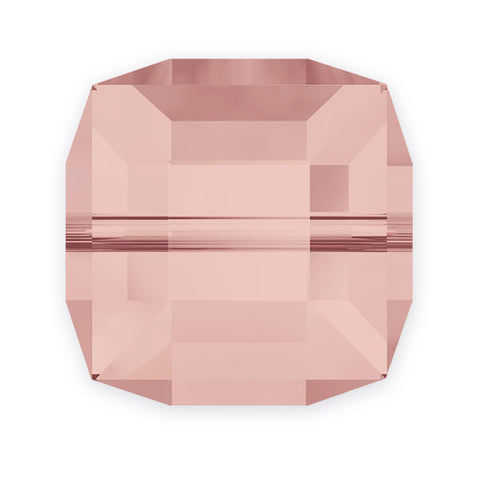 5601-6-bl-ro Swarovski Crystal 6mm Blush Rose Cube Beads (Package of 6 Beads)