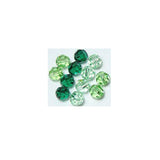 5000-6-mix-grn Swarovski Crystal 6mm Round Bead Mix (03) - Shades of Greens (Package of 12 Beads)