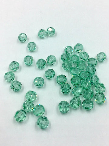 5000 Swarovski Crystal 6mm Round Chrysolite Beads (Package of 12 Beads)