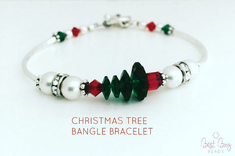 Christmas Tree Bangle Bracelet Kit