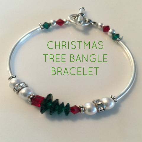 Christmas Tree Bangle Bracelet Kit (1 Kit Per Package)