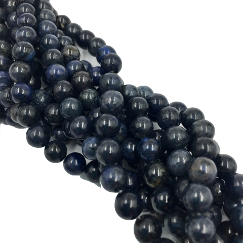D6R8 - Dakota Stones Dumortierite 6mm Round (17 beads per package)