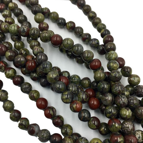 DBJ6R8 - Dakota Stones Dragon Blood Jasper 6mm Round (17 beads per package)