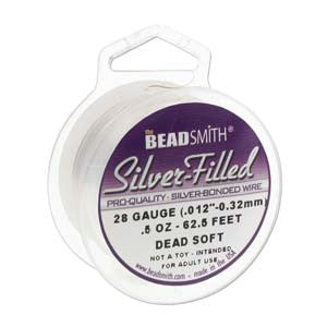 0604-20g-sp Silver Plated 20 Gauge Copper German Bead & Craft Wire (Package of 6 meters (19.6 feet) length)