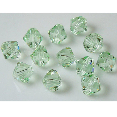 5301 / 5328-4-chr Swarovski Crystal 4mm Bicone Chrysolite Beads (Package of 48 Beads)