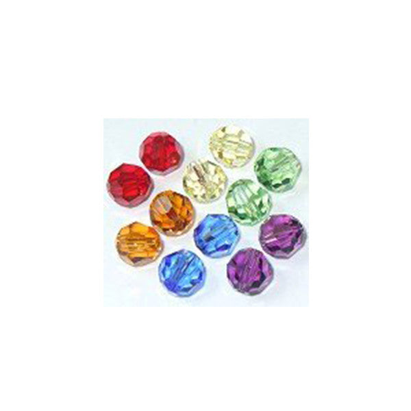5000-6-mix-sptrm Swarovski Crystal 6mm Round Bead Mix (08) - Colors of the Spectrum (Package of 12 Beads)