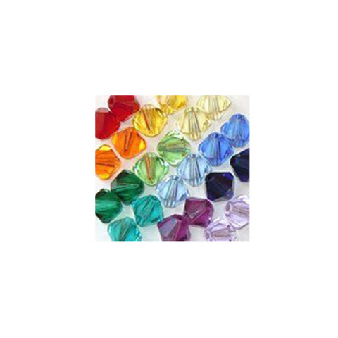 5301 / 5328-4/mix-sptrm Swarovski Crystal 4mm Bicone Bead Mix (07) - Colors of the Spectrum (Package of 48 Beads)