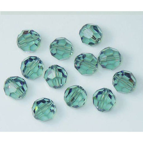 5000-8-er Swarovski Crystal 8mm Round Erinite Beads (Package of 12 Beads)