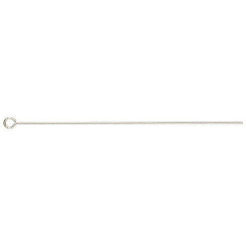 0802-2-ss Sterling Silver 2 inch Eye Pins (Package of 6 Eye Pins)