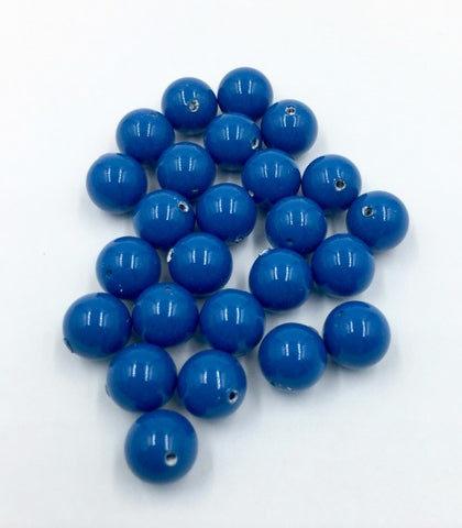 5810-Swarovski Crystal 8mm Lapis Round Pearls (Package of 25 pearls)
