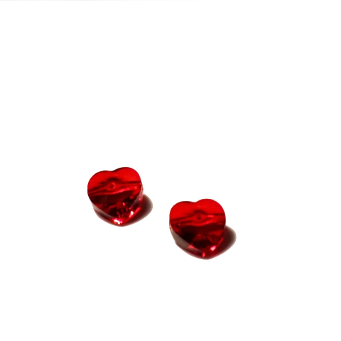 5742 Swarovski Crystal 10mm Siam Heart Bead (2 beads per package)