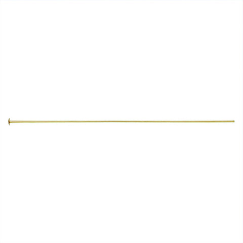 0801-2-gol 14k Gold Filled 2 inch Head Pins (Package of 6 Head Pins)