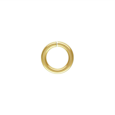 0543-6-gol 14K Gold Filled 6mm Open Jump Rings (Package of 10 Jump Rings)