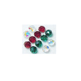 5000-6-mix-holi Swarovski Crystal 6mm Round Bead Mix (04) - Holiday Colors (Package of 12 Beads)
