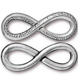 0583-inf-sp Silver Plated 32x12mm Infinity Link (Package of 1 link)