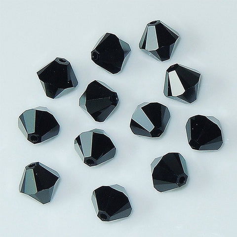 5301 / 5328-4-je Swarovski Crystal 4mm Bicone Jet Beads (Package of 48 Beads)