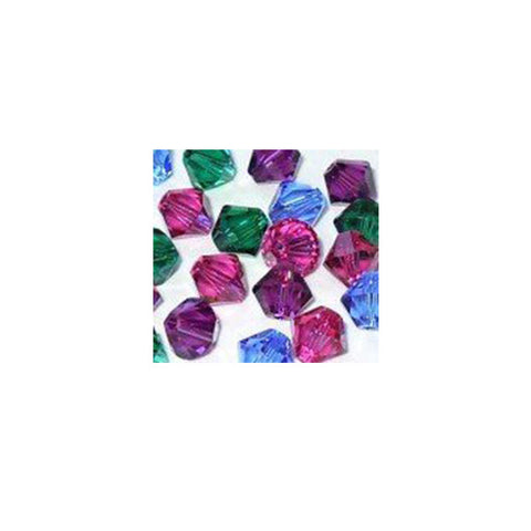 5301 / 5328-4/mix-jewl Swarovski Crystal 4mm Bicone Bead Mix (03) - Jewel Tones (Package of 48 Beads)