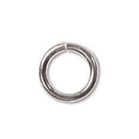 0543-8JL-ss Silver Plated 8mm JUMPLOCK Open Jump Rings (Package of 10 Jump Rings)