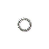 0543-6JL-ss Silver Plated 6mm JUMPLOCK Open Jump Rings (Package of 10 Jump Rings)