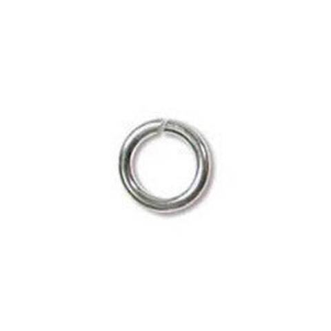 0543-4JL-ss Silver Plated 4mm JUMPLOCK Open Jump Rings (Package of 10 Jump Rings)