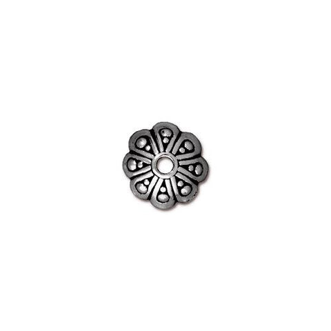0532-8-sp  Silver Plated Oasis Bead Cap (Package of 4 bead caps)