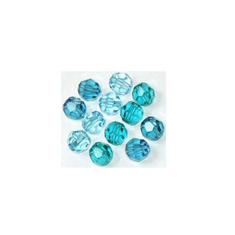 5000-6-mix-ocb Swarovski Crystal 6mm Round Bead Mix (05) - Ocean Blues (Package of 12 Beads)