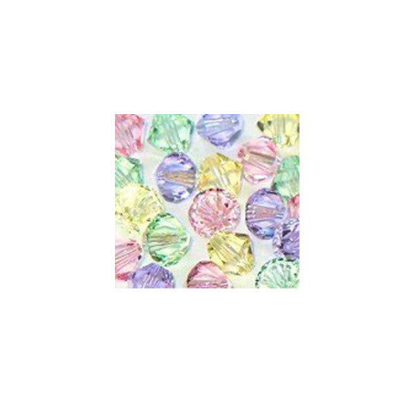 5301 / 5328-6/mix-pstl Swarovski Crystal 6mm Bicone Bead Mix (10) - Pastels (Package of 24 Beads)