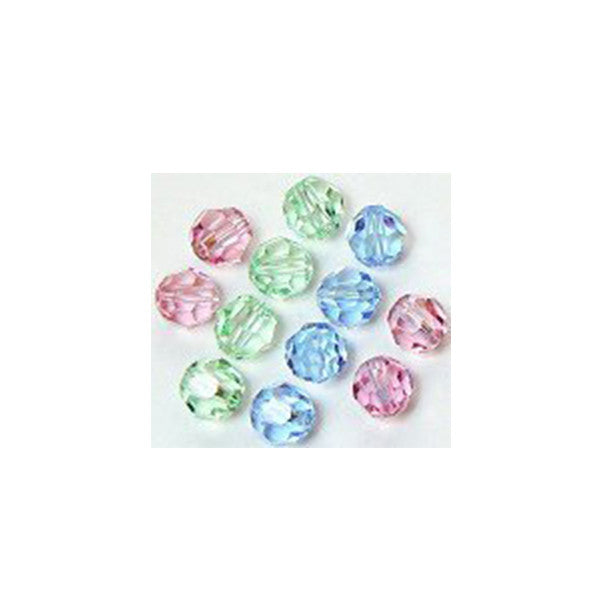 5000-6-mix-pstl Swarovski Crystal 6mm Round Bead Mix (07) - Pastels (Package of 12 Beads)