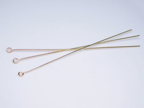 0802-3-gp Gold Plated 3 inch Eye Pins (Package of 6 Eye Pins)