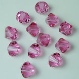 5301 / 5328-6-ro Swarovski Crystal 6mm Bicone Rose Beads (Package of 24 Beads)