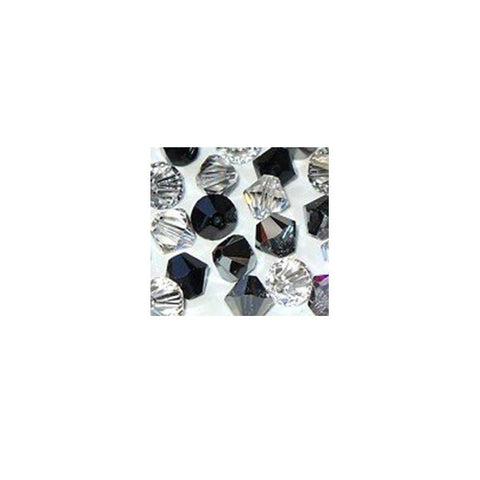 5301 / 5328-4/mix-gray Swarovski Crystal 4mm Bicone Bead Mix (01) - Shades of Gray (Package of 48 Beads)
