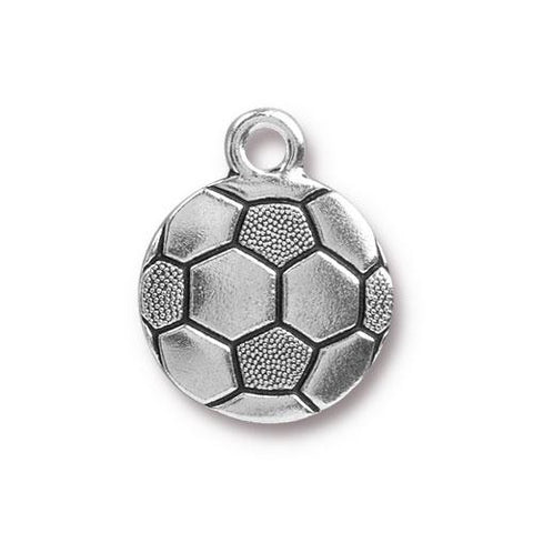 0576-soc-sp Silver Plated Soccer Ball Charm (Package of 1 Charm)