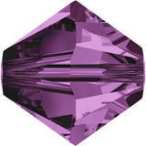 5301 / 5328-4-am Swarovski Crystal 4mm Bicone Amethyst Beads (Package of 48 Beads)