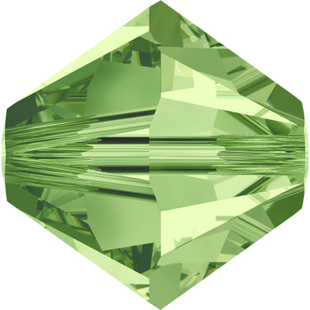 5301 / 5328-4-pe Swarovski Crystal 4mm Bicone Peridot Beads (Package of 48 Beads)