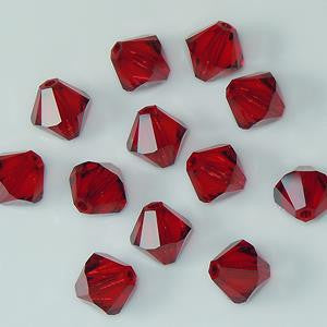 5301 / 5328-6-si Swarovski Crystal 6mm Bicone Siam Beads (Package of 24 Beads)