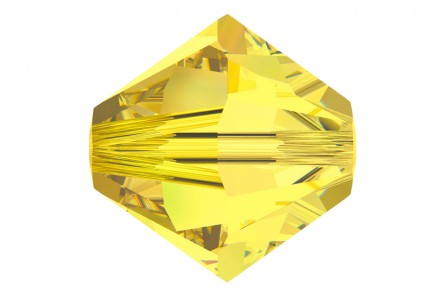 5301 / 5328-6-ct Swarovski Crystal 6mm Bicone Citrine (Package of 24 Beads)