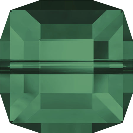 5601-4-em Swarovski Crystal 4mm Emerald Cube Beads (Package of 12 Beads)