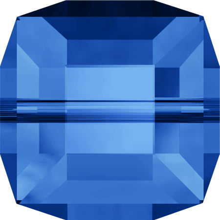 5601-6-sa Swarovski Crystal 6mm Sapphire Cube Beads (Package of 6 Beads)