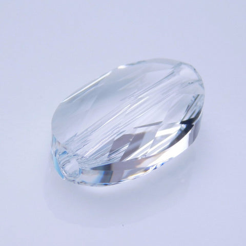 5050-14-cr Swarovski Crystal 14x10mm Faceted Oval Crystal Bead (Package of 1 Bead)