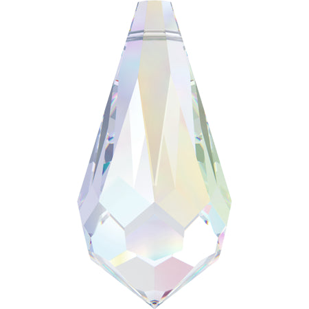 6000-11-cr-ab Swarovski Crystal 11mm x 5.5mm Crystal AB Teardrop Pendants (Package of 4 pendants)