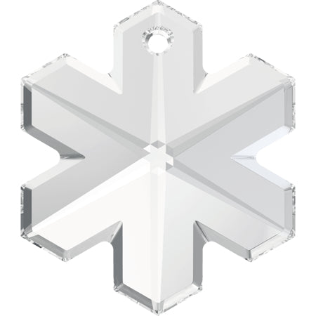 6704-25-cr Swarovski Crystal 25mm Clear Crystal Top-drilled Snowflake Pendant (Package of 1 pendant)