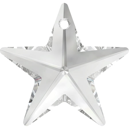 6714-20-cr Swarovski Crystal 20mm Clear Crystal Top-drilled Star Pendant (Package of 1 pendant)
